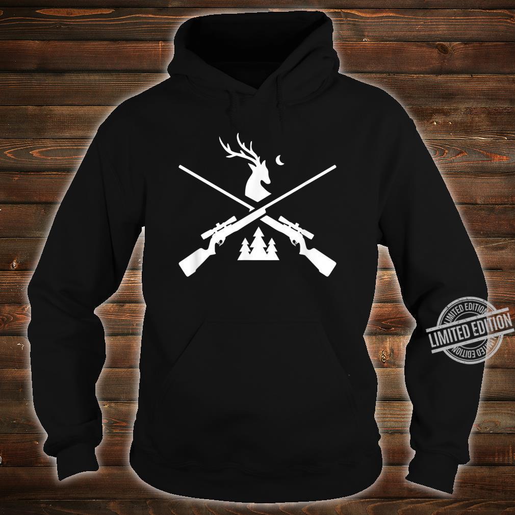 Gewehr Hirsch Jagd für Jäger Hirsch und Bäume Grafik Shirt hoodie