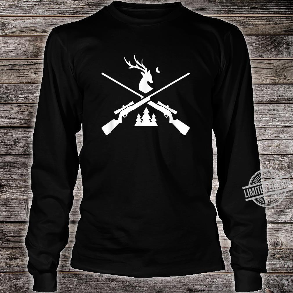 Gewehr Hirsch Jagd für Jäger Hirsch und Bäume Grafik Shirt long sleeved