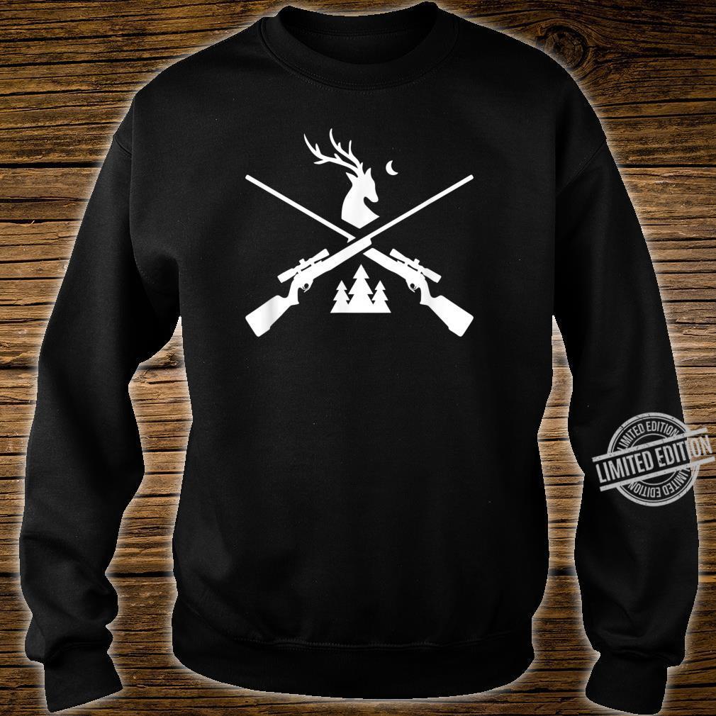 Gewehr Hirsch Jagd für Jäger Hirsch und Bäume Grafik Shirt sweater