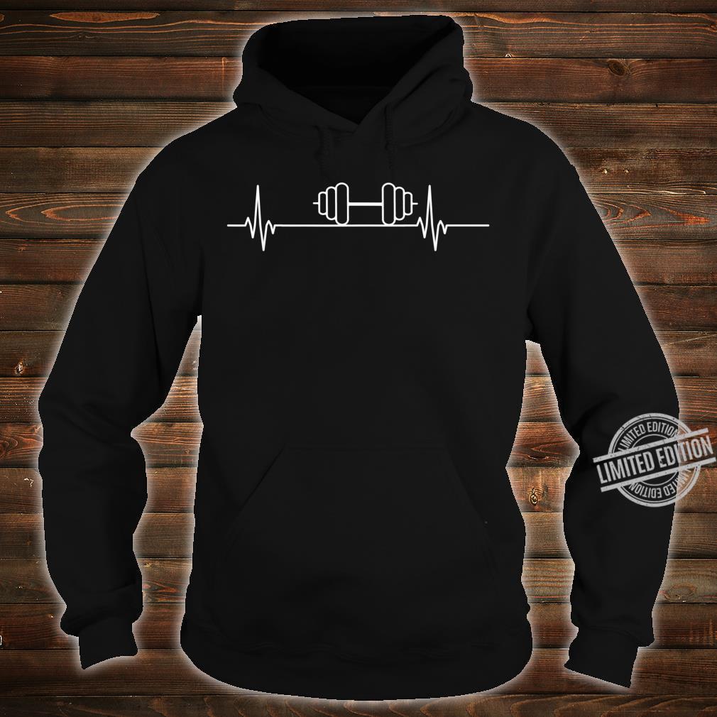 Gewichthebender Herzschlagpuls Shirt hoodie