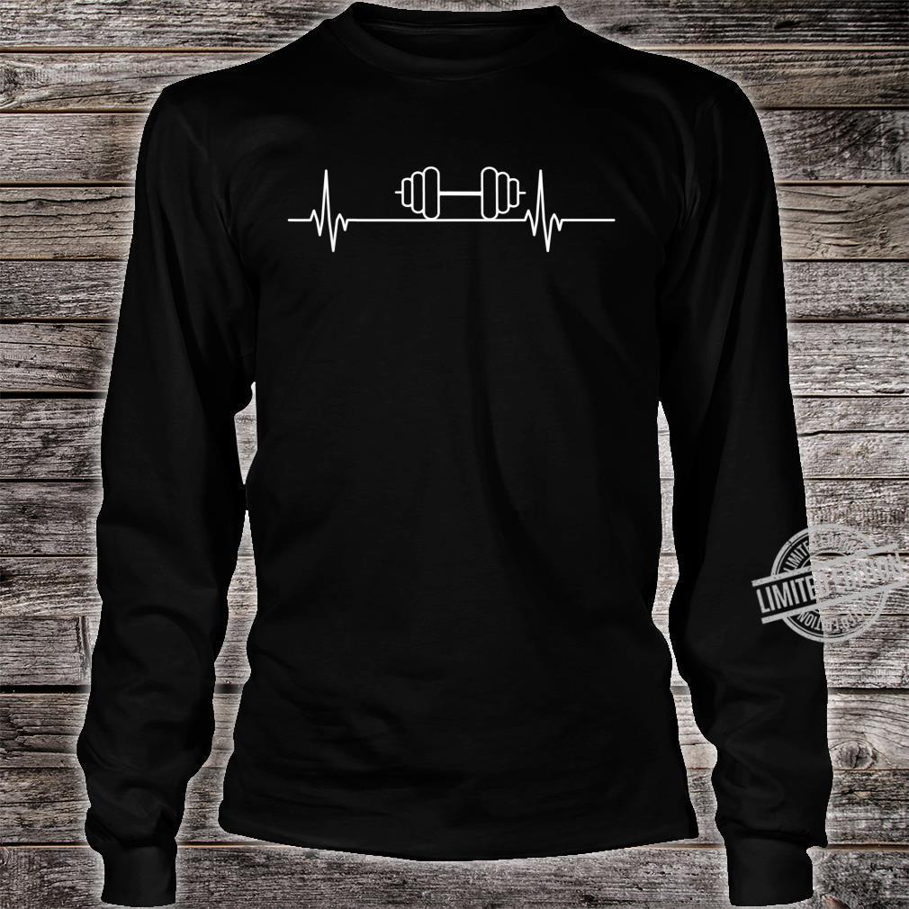 Gewichthebender Herzschlagpuls Shirt long sleeved