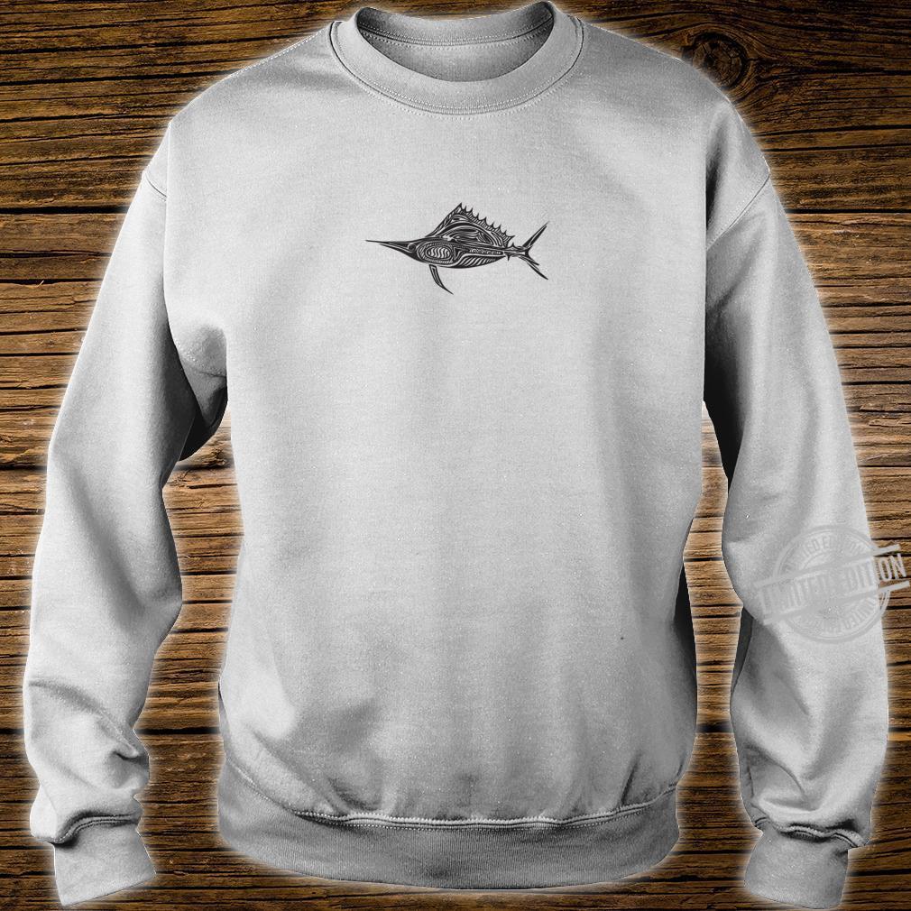 Ghoti Outdoors Tribal Sail Black Print Shirt sweater