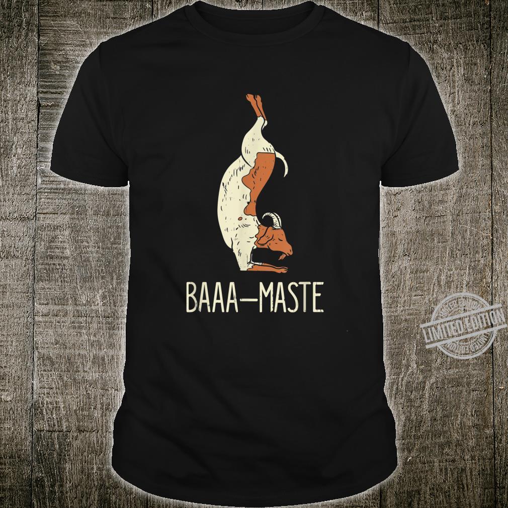 Goat Yoga Design Baaa Maste I Namaste I Inner Peace I Yogi Shirt