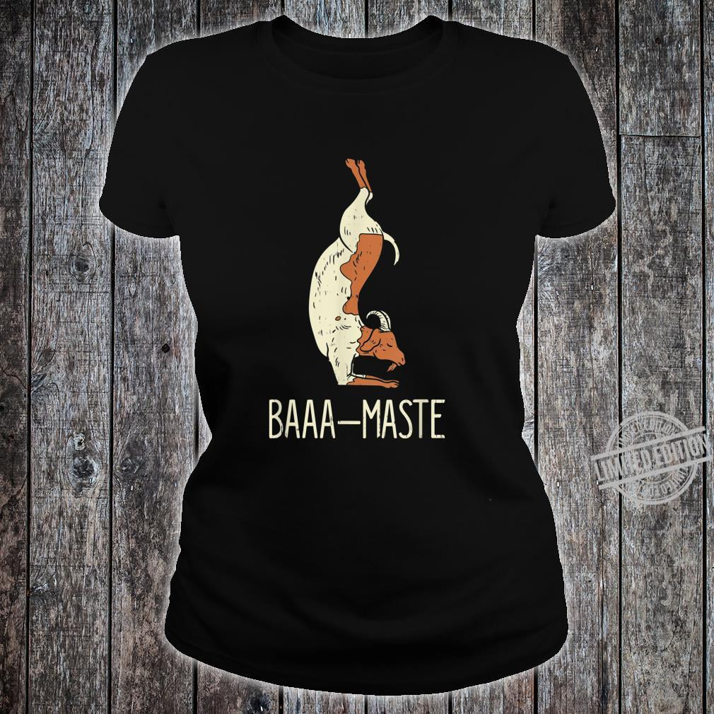 Goat Yoga Design Baaa Maste I Namaste I Inner Peace I Yogi Shirt ladies tee