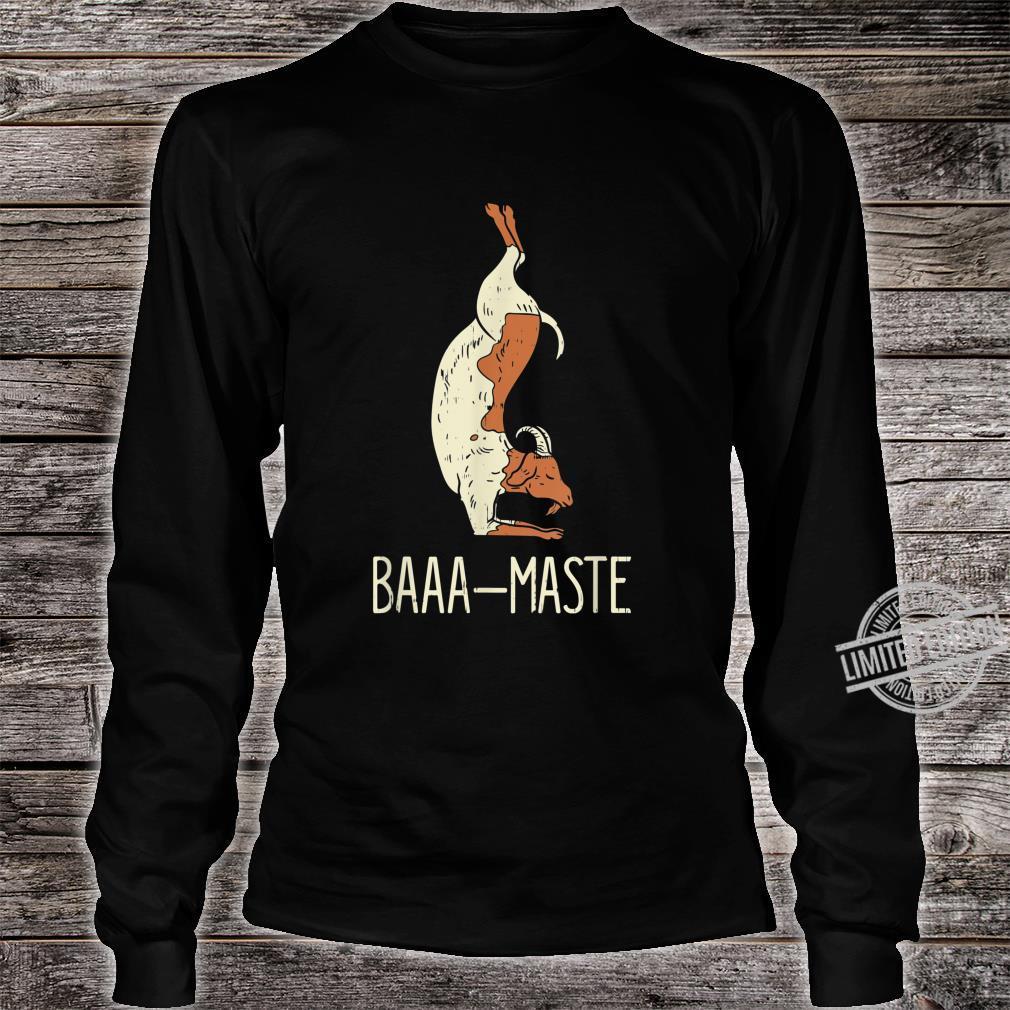Goat Yoga Design Baaa Maste I Namaste I Inner Peace I Yogi Shirt long sleeved