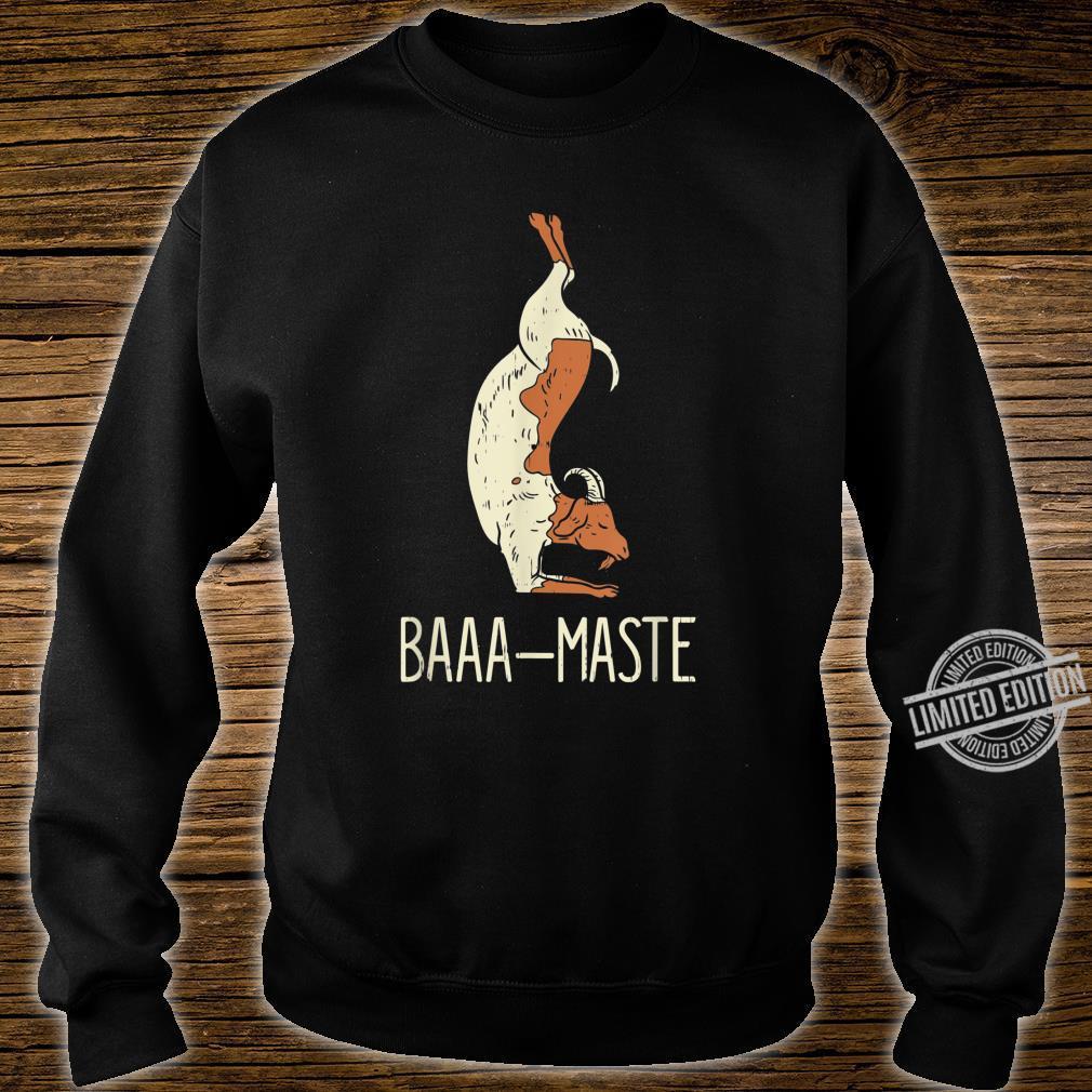 Goat Yoga Design Baaa Maste I Namaste I Inner Peace I Yogi Shirt sweater