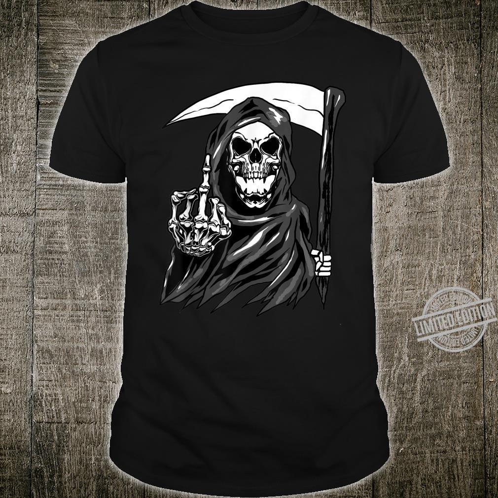 Grim Reaper Angel Of Death Cool Scythe Dead Mower Idea Shirt