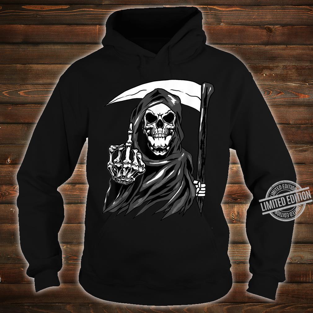 Grim Reaper Angel Of Death Cool Scythe Dead Mower Idea Shirt hoodie