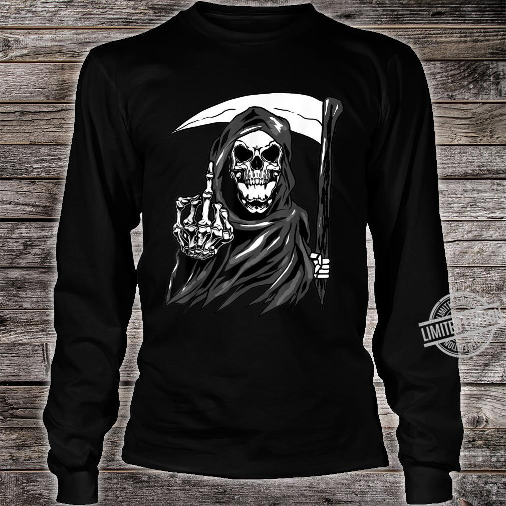 Grim Reaper Angel Of Death Cool Scythe Dead Mower Idea Shirt long sleeved