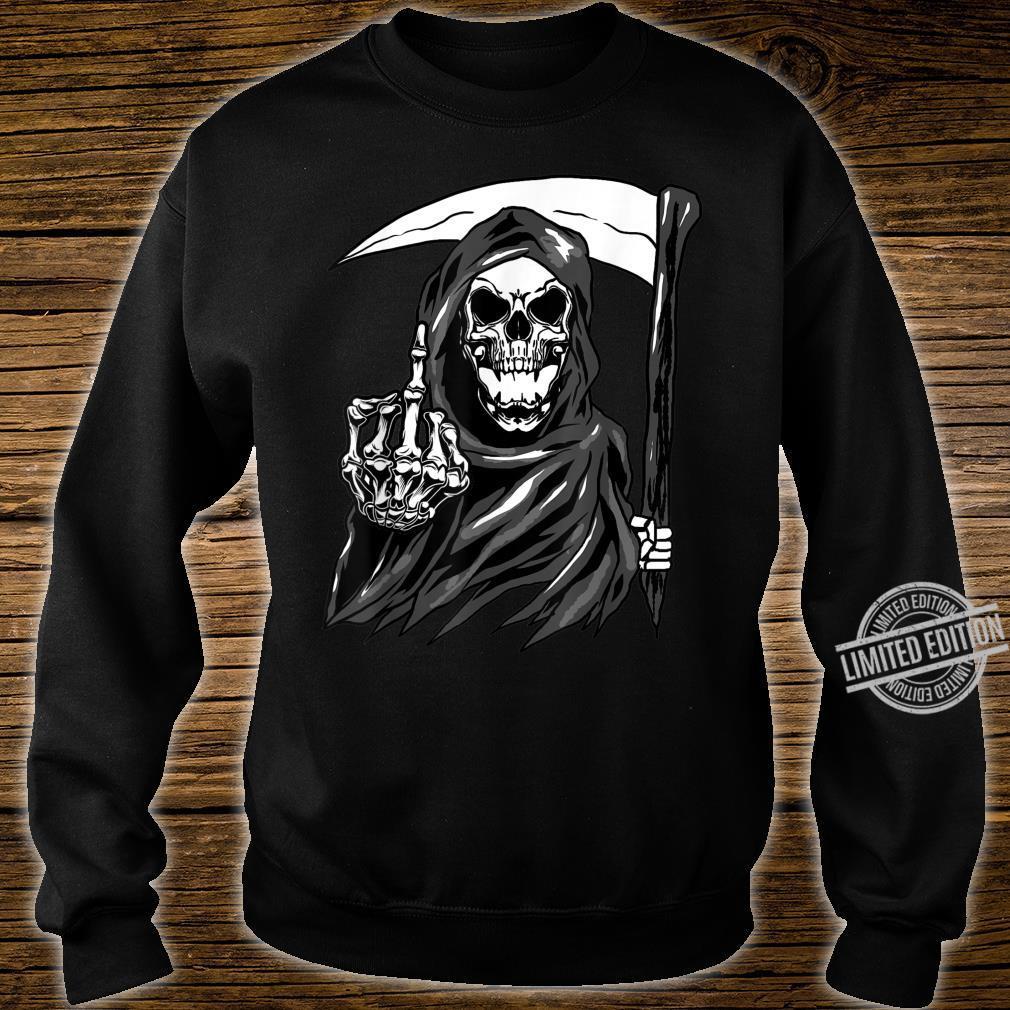 Grim Reaper Angel Of Death Cool Scythe Dead Mower Idea Shirt sweater