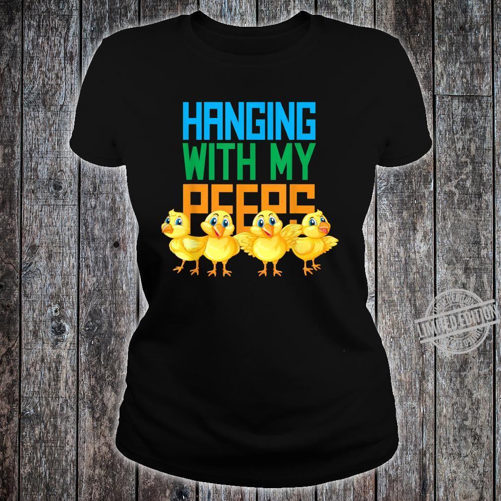 Hanging With My Peeps Easter HangOut Shirt ladies tee