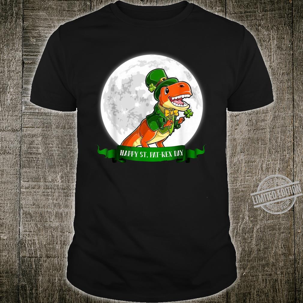 Happy St PatRex Day Dinosaur Leprechaun Under Moon Shirt