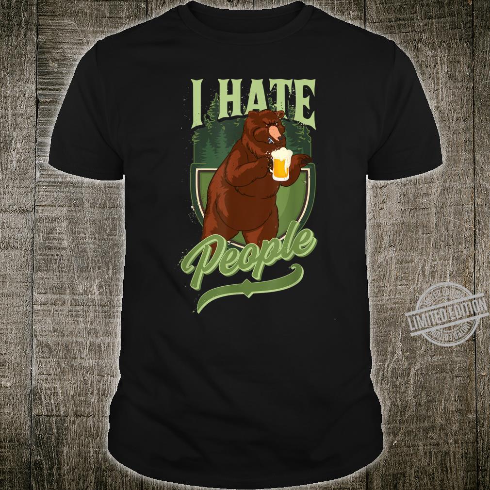 I Hate People Camper Camping Roadtrip Natur Geschenk Shirt