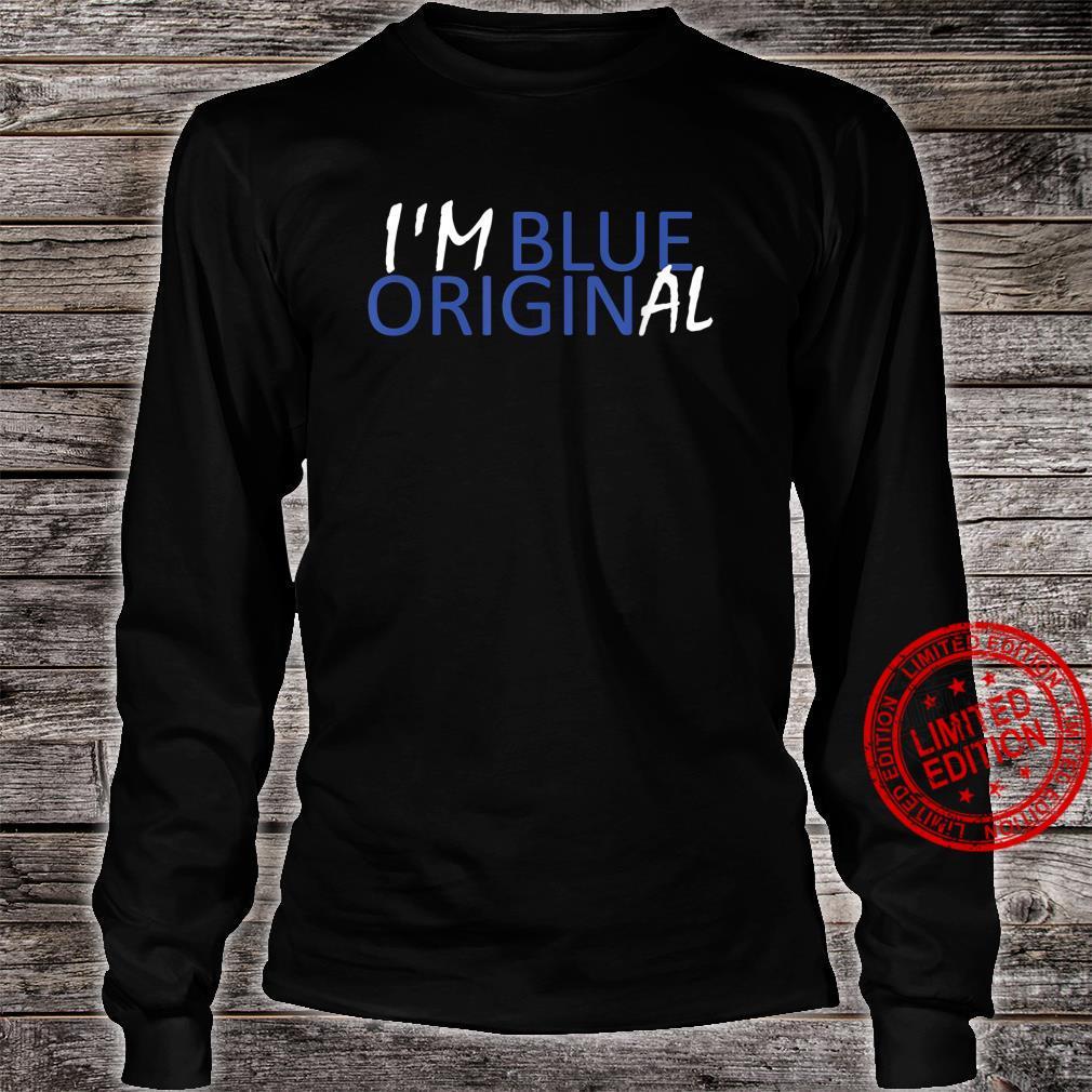 I'M BLUE ORIGINAL New Origin Moon Shepard Glenn Shirt long sleeved