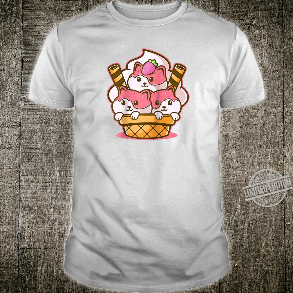 Kawaii Japanese Anime Puppy Ice Cream Scoop Manga Shirt