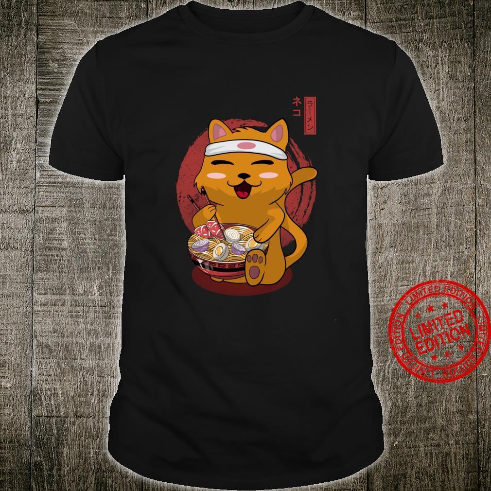 Kawaii Ramen Katze, Geburtstagsgeschenk, Weihnachtsgeschenk Langarmshirt Shirt
