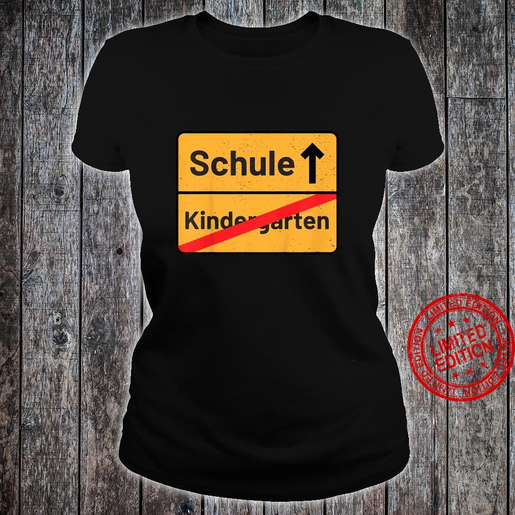 Kinder Tschüss Erste Klasse Schulbeginn Erstklässler Zuckertüte Shirt ladies tee