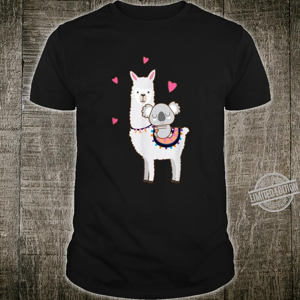 Koala Riding Llama Best Friends Alpaca Animal Shirt