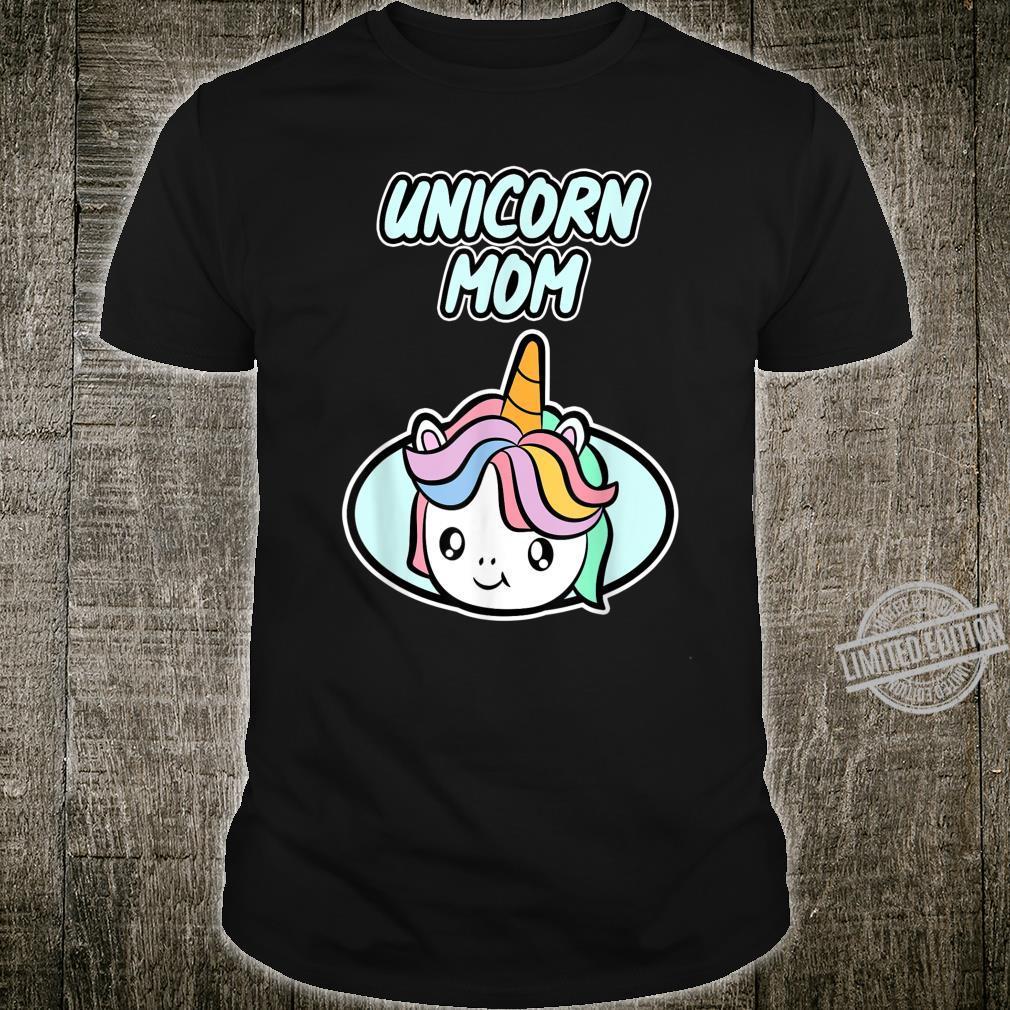 MuttertagsGeschenk mit Einhorn für Mama Unicorn Mom Shirt