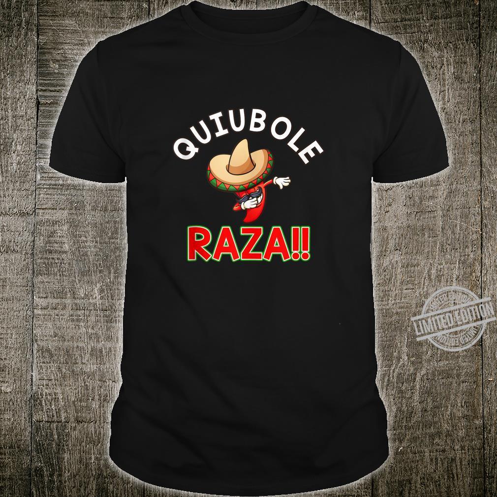 Quiubole Raza Mexican Dabbing Jalapeno Shirt