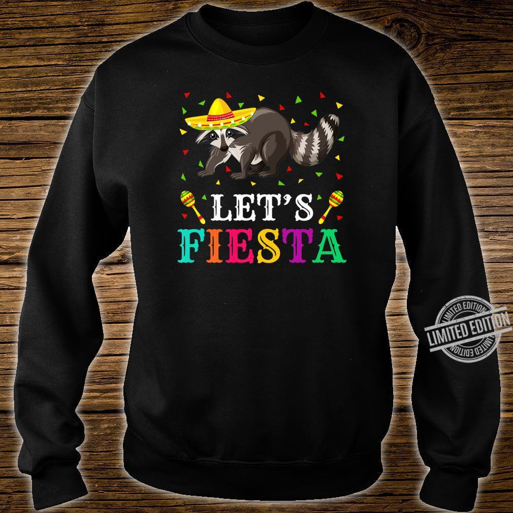 Raccoons Animal Lets Fiesta Cinco De Mayo Raccoon Shirt sweater