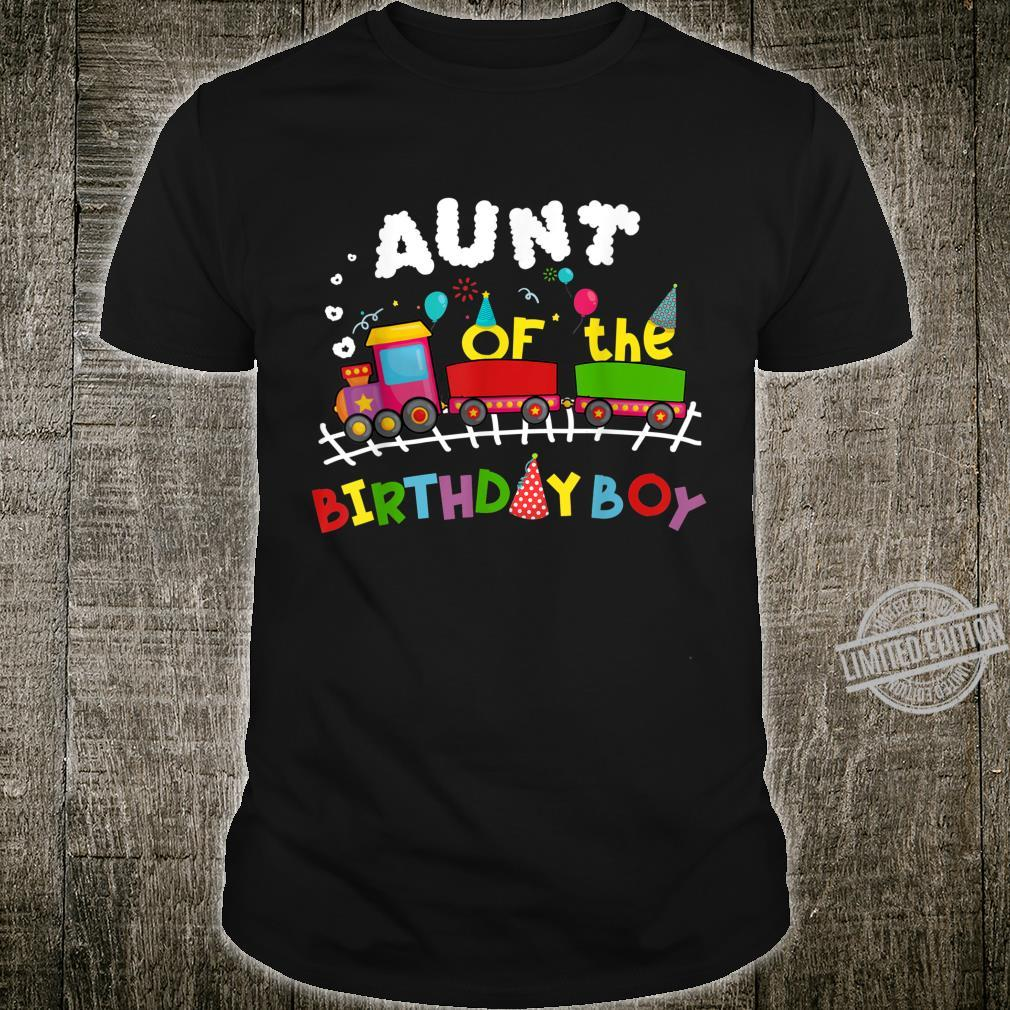 Railroad Birthday Boy Aunt of the Birthday Boy Train Shirt