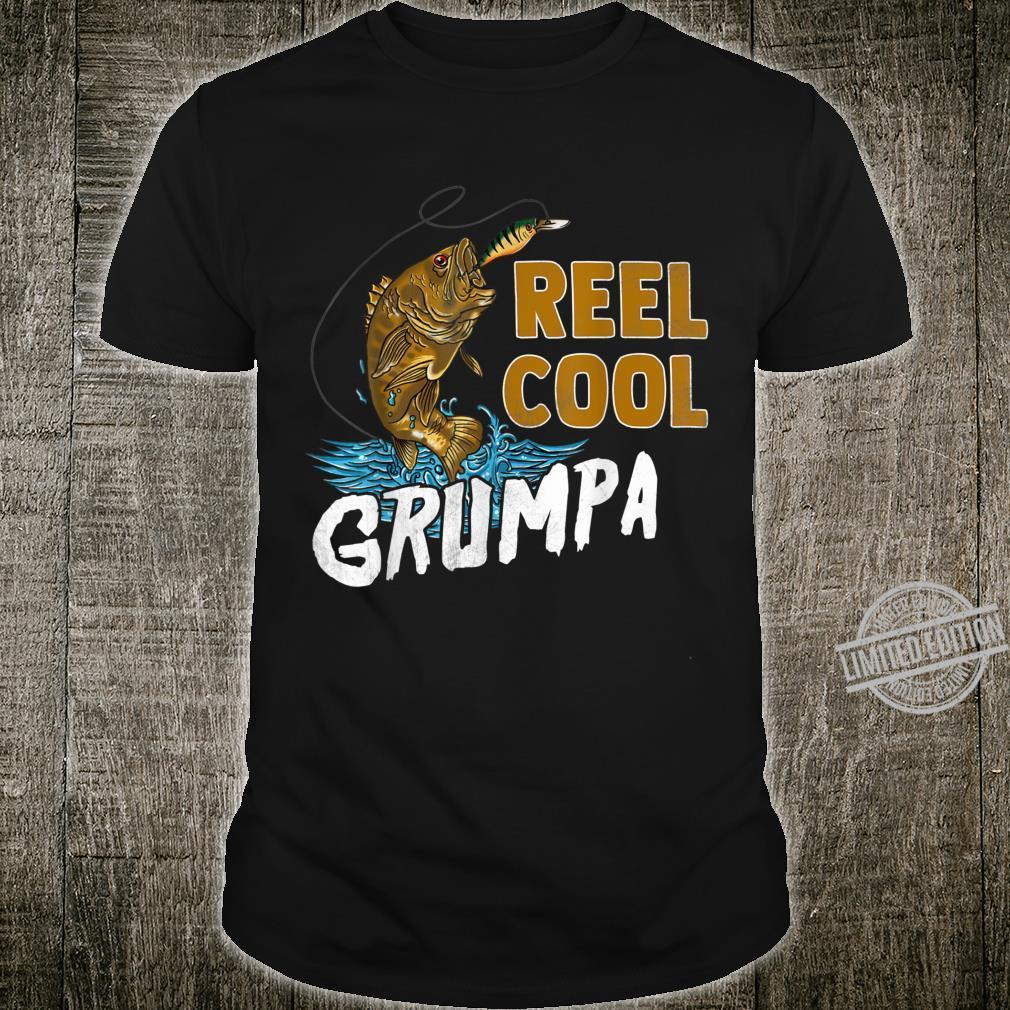 Reel Cool Grumpa Shirt Fishing Fathers Day Shirt