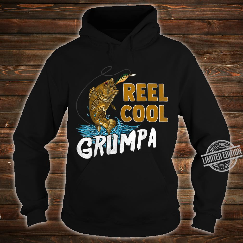 Reel Cool Grumpa Shirt Fishing Fathers Day Shirt hoodie