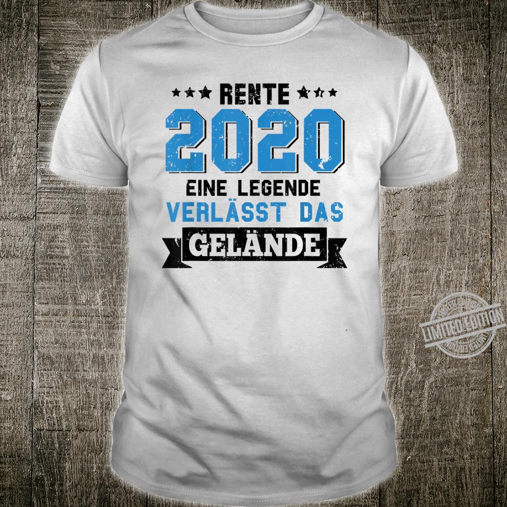 Rente 2020 Eine Legende Verlässt Das Gelände Rentnerin 2020 Shirt
