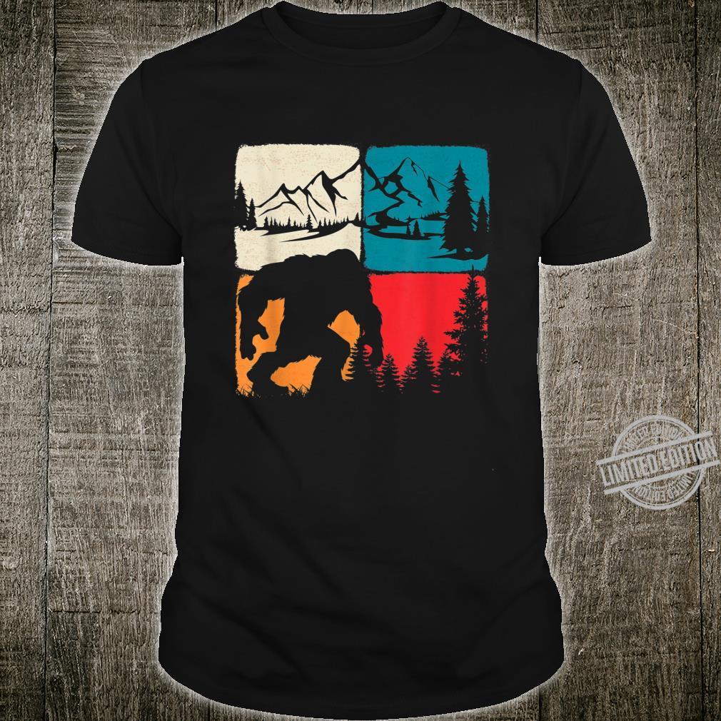 Retro Bigfoot Rocky Mountains Vintage Camper Hiking Shirt
