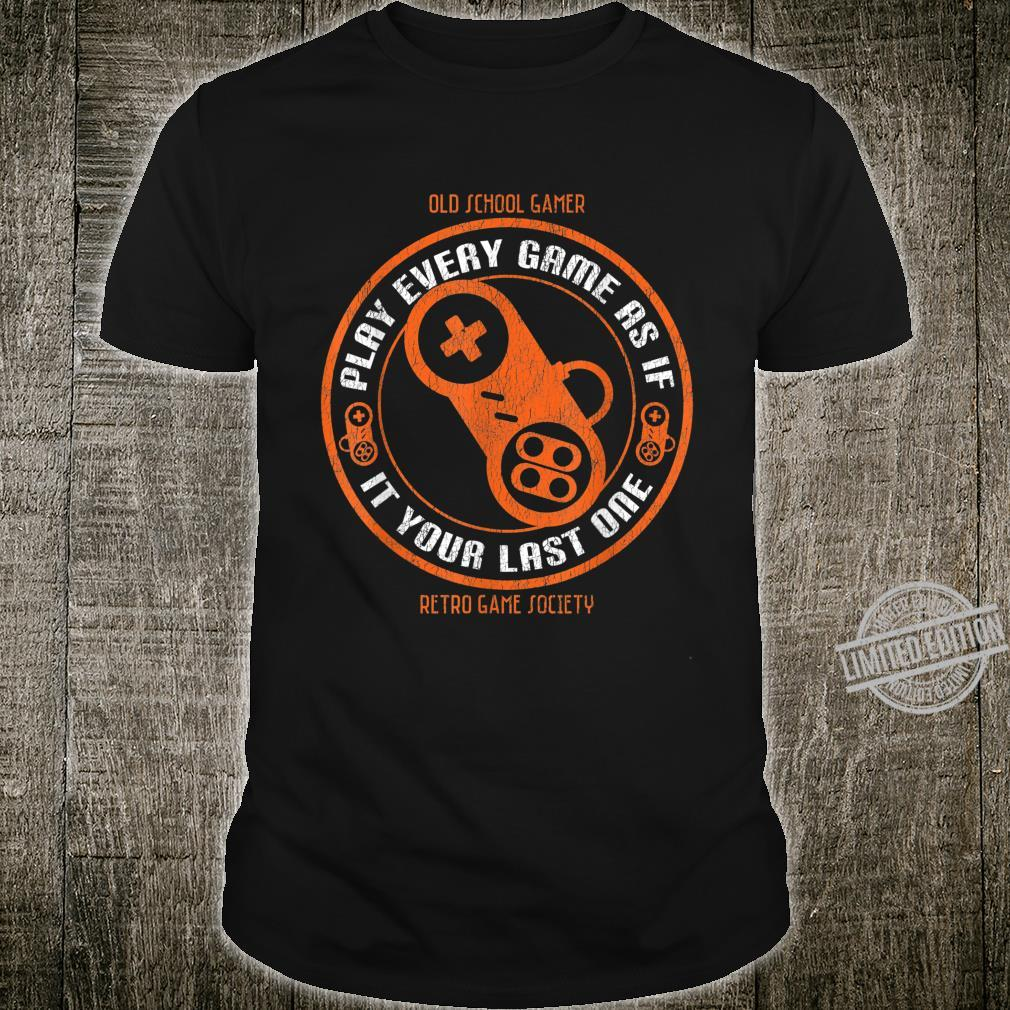 Retro Game Society Shirt Old School Gamer Controller Design Shirt