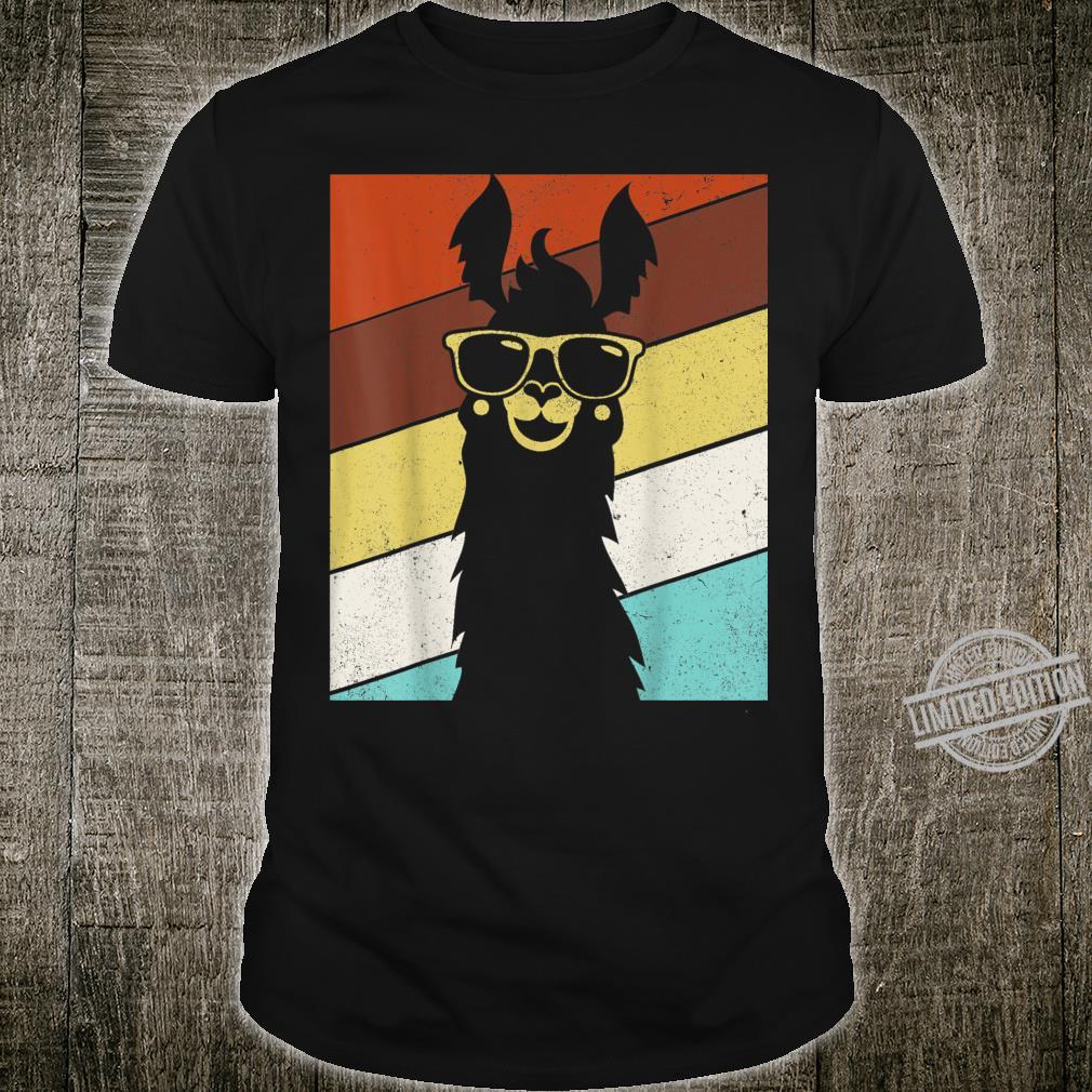 Retro Llama Alpaca Vintage Style Llamas Alpacas Shirt