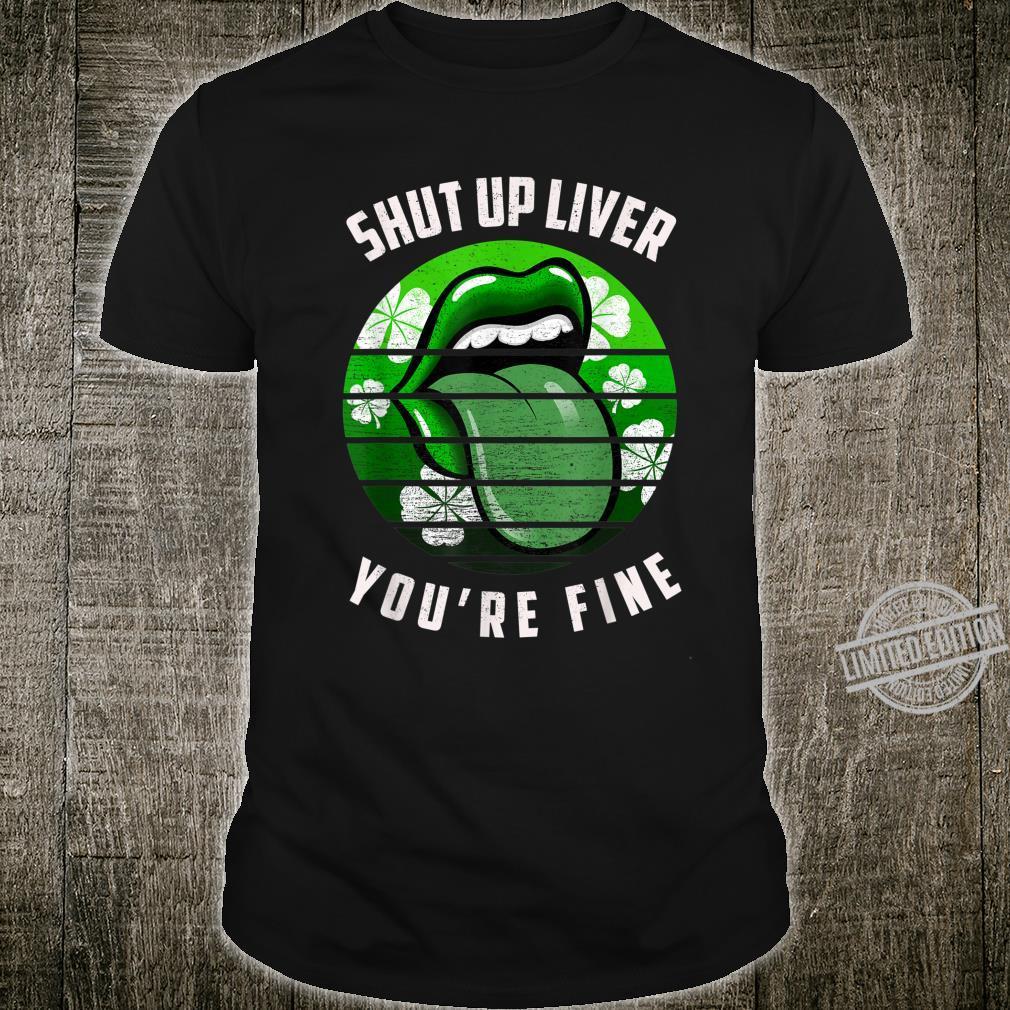 Retro Shamrock St Patricks Day Lips Phone Grip Shirt