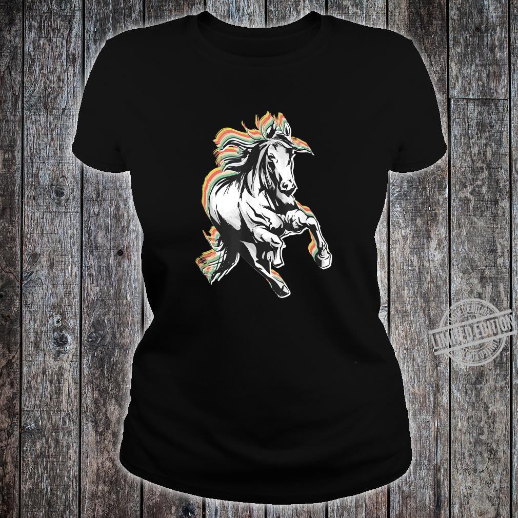 Retro Style Horse Shirt ladies tee