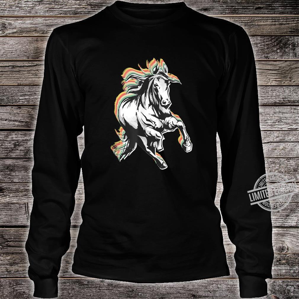 Retro Style Horse Shirt long sleeved