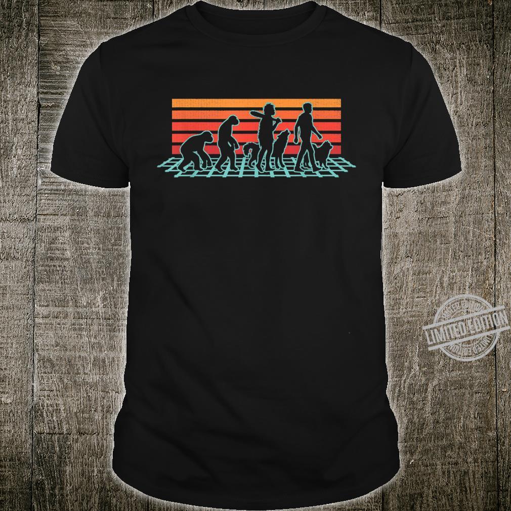 Samoyed Dog Evolution Retro Vintage Shirt
