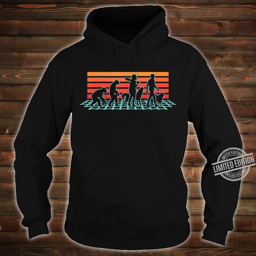 Samoyed Dog Evolution Retro Vintage Shirt hoodie
