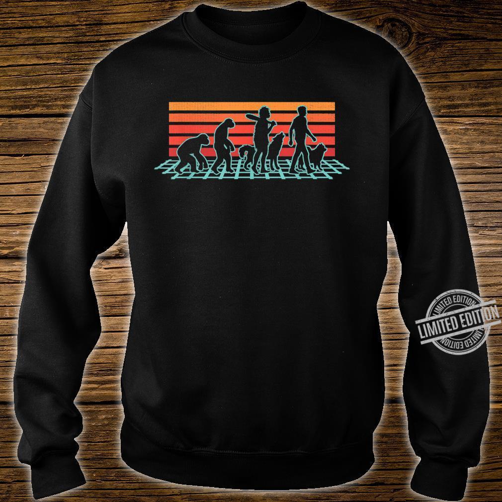 Samoyed Dog Evolution Retro Vintage Shirt sweater