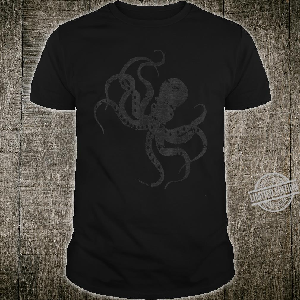 Sea Monster Idea Aquarium Zoo Keeper Octopus Shirt