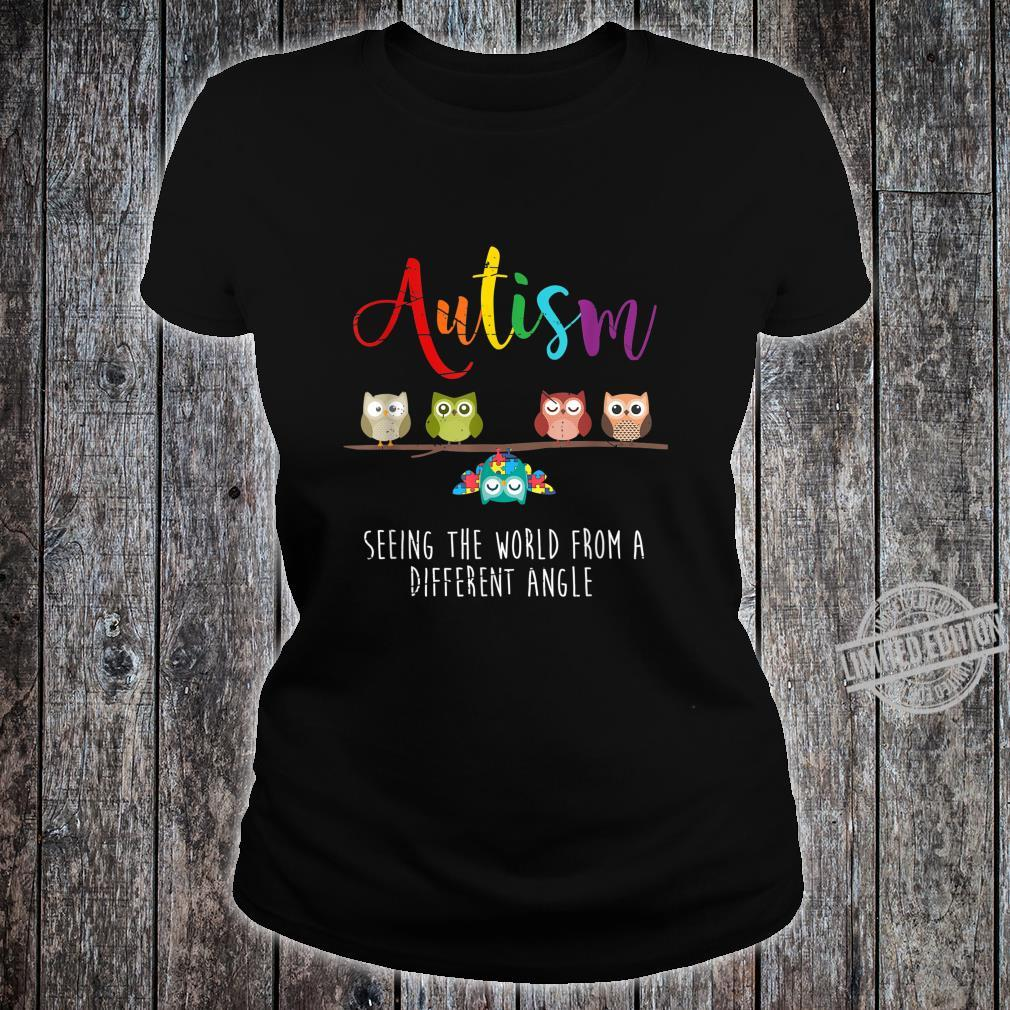 Seeing The World From A Different Angle Autism Shirt ladies tee