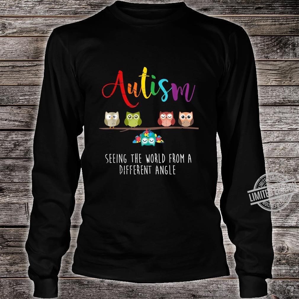 Seeing The World From A Different Angle Autism Shirt long sleeved