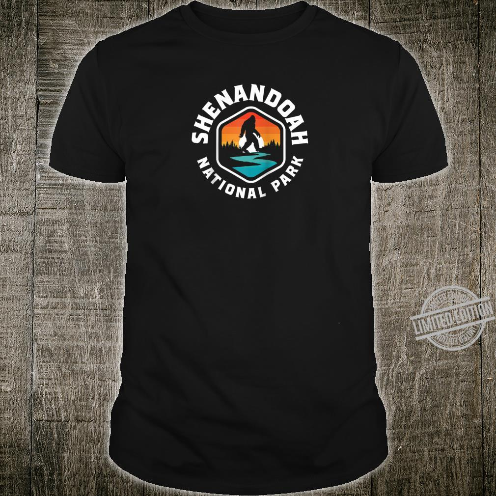 Shenandoah National Park Vintage Bigfoot Outdoor Shirt