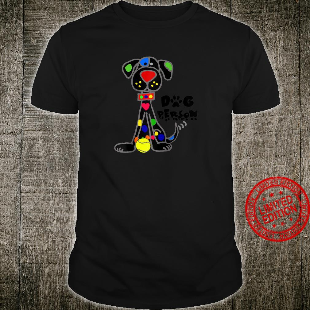 Smileteespetsa Black Dog with Ball Dog Person Cartoon Shirt