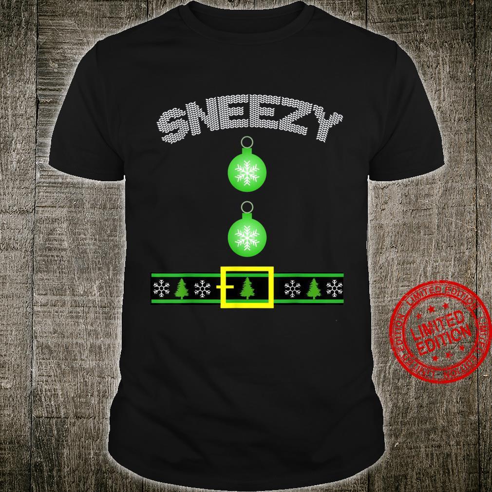 Sneezy Dwarf Halloween Costume Boys Girls Shirt