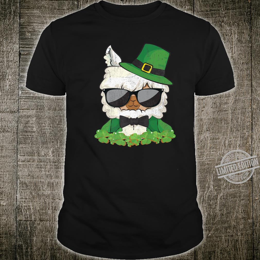 St Patrick's Day Llama Shamrock Shirt