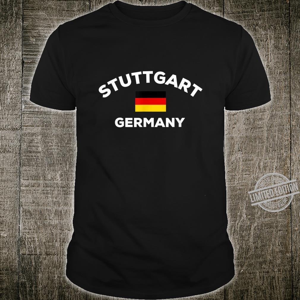 Stuttgart Deutschland Deutsche Flagge Stadt Shirt