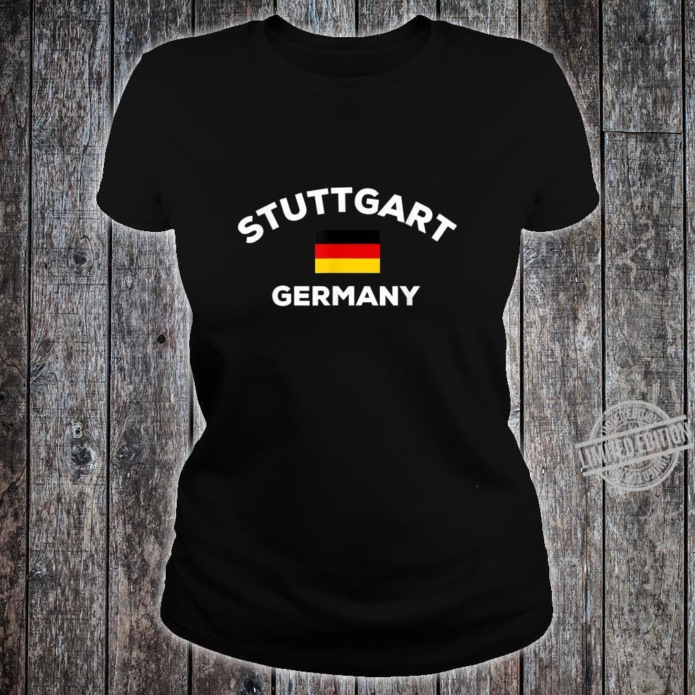 Stuttgart Deutschland Deutsche Flagge Stadt Shirt ladies tee
