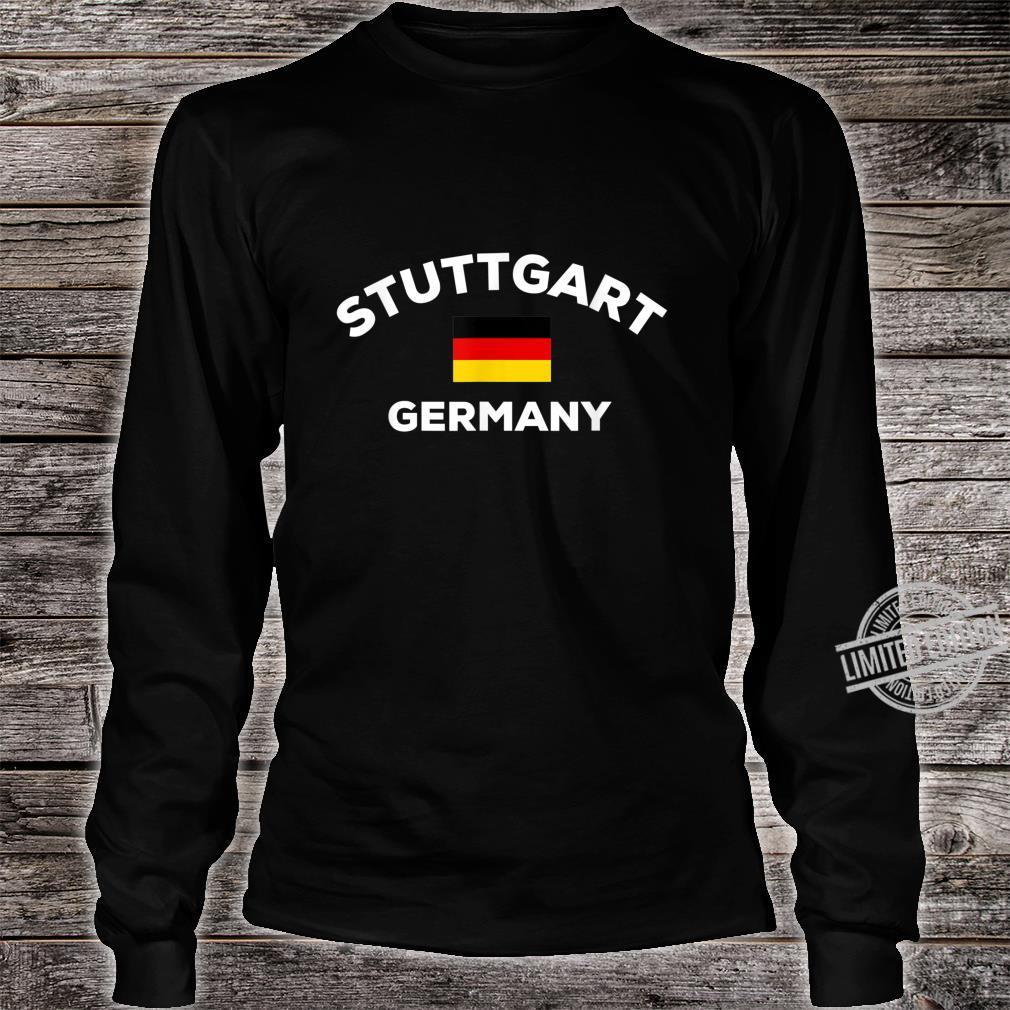 Stuttgart Deutschland Deutsche Flagge Stadt Shirt long sleeved