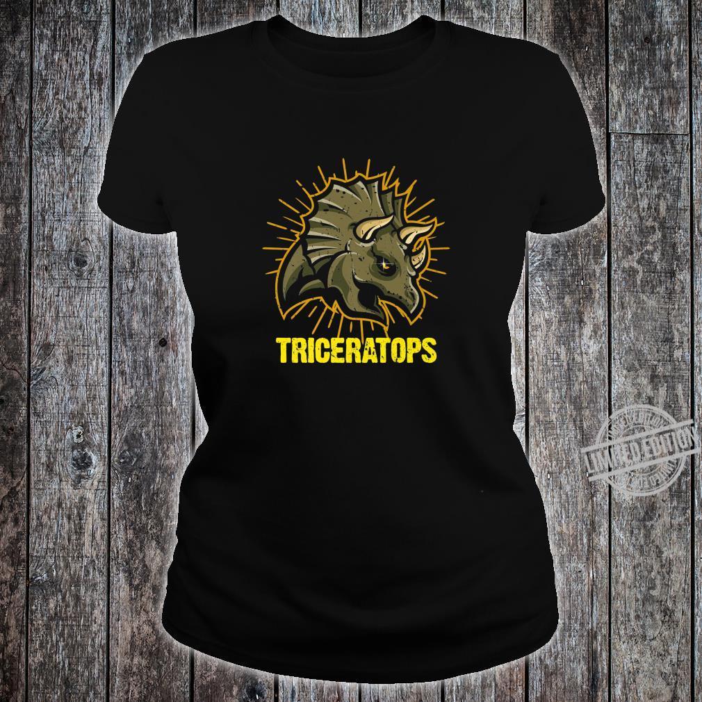 Triceratops Paleontologists Dinos Dinosaur Shirt ladies tee