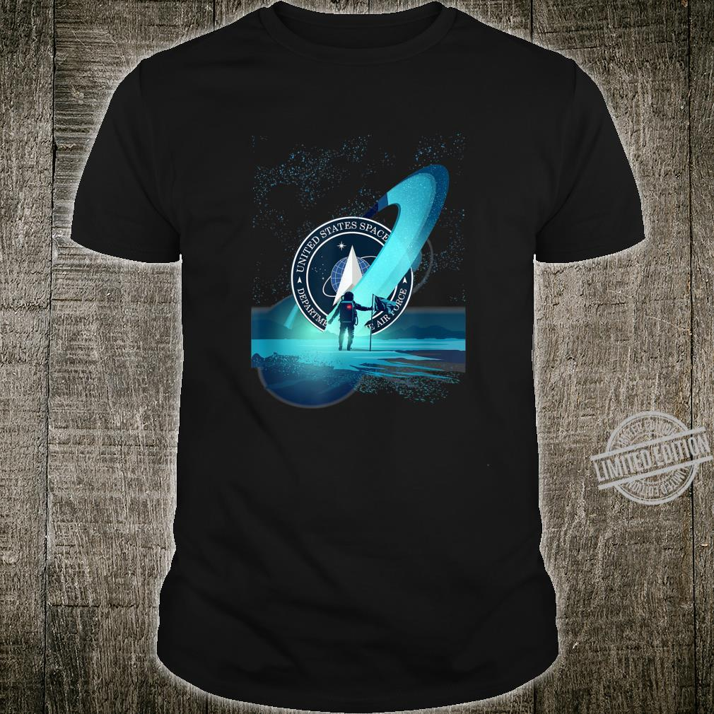 United States Space Force Astronaut Moon Exploration Shirt